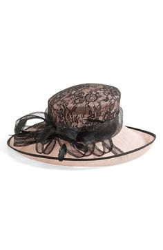 Nordstrom Sinamay Hat with Lace Cover Crown available at #Nordstrom