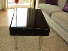 New custom built, with high black gloss finish coffee table. £400.00