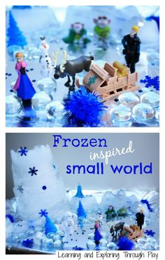 Learning and Exploring Through Play: Frozen Inspired Ice Castle Small World