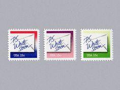 PS Write Soon Stamp Set (1980)