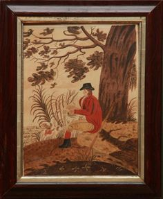 <b>EUROPEAN SCHOOL: <i>AFTER THE HUNT</b></i> <br /> Watercolor on paper, unsigned, with label from P.D. Colnaghi & Co., Ltd., London.  17 1/2 x 13 in. (sight), 23 x 19 in. (frame). <br />  <br /> Provenance: Wilton Antique Show, Wilton, CT, 1986. <br />  <br /> Collection of Vincent Petragnani, Kent, CT <br />