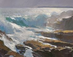 Ray Roberts Stormy Seas 24x30 oil