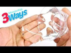 How To Make Instant Clear Liquid Slime Diy Contact Lens Solution Glue Without Borax You