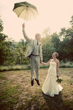 Float into your wedding like Mary Poppins.Related: Disney Wedding Inspiration