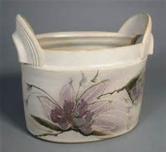 Clematis Series Basket. Wheel thrown and altered porcelain.