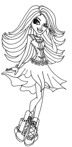 Spectra Vondergeist Monster High Coloring Page