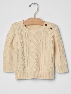 Aran cable knit sweater | Gap