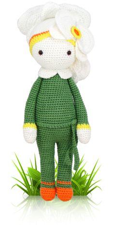 Orchid Ollie - crochet amigurumi pattern by Zabbez / Bas den Braver