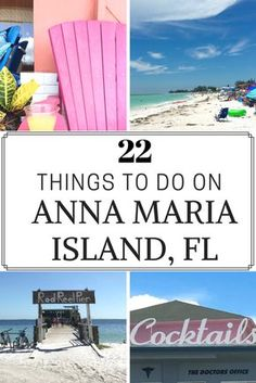 Anna Maria Island has some of the most beautiful beaches in the world. Read this guide of 22 things to do while do on Anna Maria Island, including places to see, eat and drink.