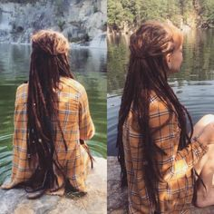 Dreads made by me, with 7 year old dread extensions :o Follow @franziskalorenz…