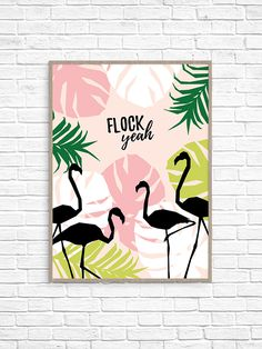 You know how much I love a good pun, and jokes don't get much better than when they involve flamingoes! Following last month's pizza wall art and the cereal print before that, I thought it was high time I moved away from food before you started to think I have an addiction (you wouldn't be …