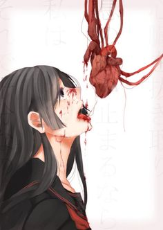 Bloody anime girl Guro