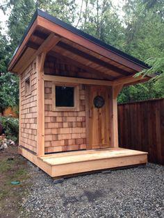 backyard design – Gardening Tips Diy Sauna, Outdoor Sauna, Outdoor Baths, Backyard Projects, Outdoor Projects, Mini Shed, Mobile Sauna, Building A Sauna, Shed Makeover