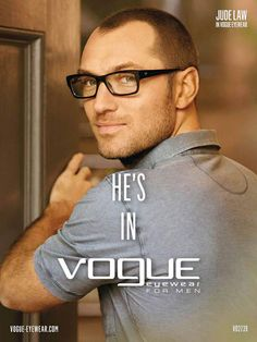 Jude Law for Vogue Eyewear S/S 13   Grey is great!