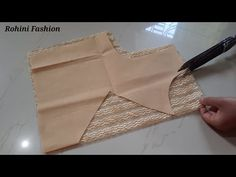 Net blouse design cutting and stitching back neck design. and stitching b. Neck Designs For Suits, Back Neck Designs, Blouse Neck Designs, Blouse Neck Patterns, Designer Blouse Patterns, Netted Blouse Designs, Fancy Blouse Designs, Patch Work Blouse Designs, Net Blouses