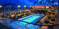 Silversea Silver Muse Pool Deck Silversea Cruises, Luxury Cruise Lines, Architectural Digest, Jacuzzi, Outdoor Pool, Luxury Travel, Travel Destinations, Ship, Mansions