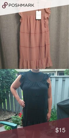 nwt 🌸 drop waist dress ruffled arm and hem.  modeling the black (also available). runs TTS. WHO WHAT WEAR Dresses Mini