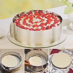 Adjustable Cake Setting Ring by Fansheng,Retractable Stainless Circle Mousse Ring Adjustable Cake Pan Size Mold Home Baking Tool -- Final call for this special discount  : Bakeware