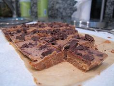 Cold and Melty, Just in Time for Summer! Almond Chocolate Freezer Fudge on http://foodbabe.com *Click on photo for more delicious organic recipes from Foodbabe.com *  Organic dinner ideas, organic recipe ideas, organic living, real food recipes, whole food recipes, clean eating, healthy food, healthy dinner ideas