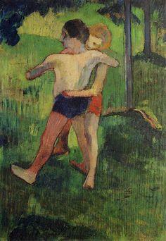 Paul Gauguin, Enfants Luttant II (Children Wrestling), 1888, oil on canvas, 33.5 x 24 cm, Private Collection
