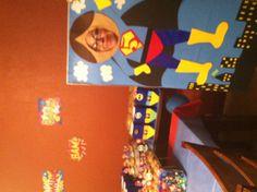 Super Hero Party, photo board idea