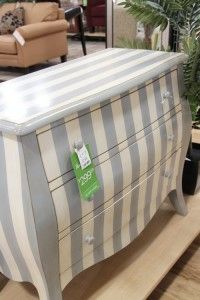 It's sad but I recognize the price tag on this adorable-ness…TJ MAXX HOMEGOODS! My favorite spot on earth. Striped Dresser, Medan, Cape Cod Style, Home Goods Store, Home On The Range, Dream House Plans, Nursery Neutral, Interior Decorating, Decorating Ideas