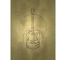 Vitruvian Guitar Photographic Print