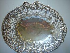English silver cake basket 1800