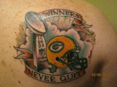 1000 images about tattoos on pinterest football tattoo green bay packers and wisconsin. Black Bedroom Furniture Sets. Home Design Ideas