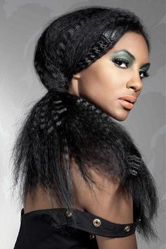 Hype Coiffure - long black straight hair styles (17421)