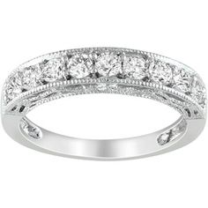 LIKE THIS 1-1/10 Carat T.G.W. Created White Sapphire Fashion Ring in Sterling Silver $40