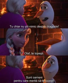 You're melting! Olaf: Some people are worth melting for. (pause) Just not maybe this second. Olaf Frozen, Frozen Movie, Disney Frozen Elsa, Disney Magic, Frozen Stuff, Anna Frozen, Olaf Quotes, Frozen Quotes, Disney Memes