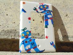 Robots Rocker / Decora / Dimmer / GCFI Light Switch Plate Cover