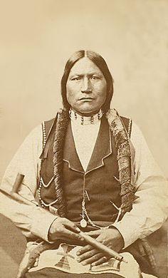 An old photograph of Black Coal - Northern Arapaho Head Chief 1877.