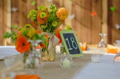 Modern Orange & Green California Wedding // photo by Photographed by Chelsea