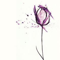 No photo description available. Watercolor Projects, Watercolor Cards, Watercolor Flowers, Watercolor Tattoo, Watercolor Paintings, Watercolors, Mini Tattoos, Body Art Tattoos, Small Tattoos