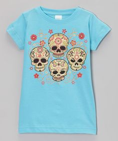 Little punk rockers can bone up on spunky style with the help of this tee. With an intricate skeleton graphic, this piece is an essential for kids craving edgy fashion. Soft cotton and an easy, pullover style let them rock out all day.