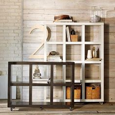 Divider bookshelves between rooms