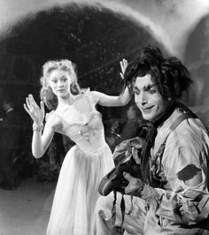 Moira Shearer and Leonide Massine in The Red Shoes directed by Michael Powell and Emeric Pressburger, 1948. Massine started out as one of Diaghilev's proteges.