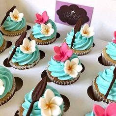 Moana Birthday Party Theme, Moana Themed Party, Moana Party, Luau Party, 2nd Birthday Parties, Birthday Ideas, Cupcake Moana, Festa Moana Baby, Cadeau Baby Shower