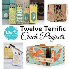 Need some Cinch inspiration? We're sharing twelve terrific We R Memory Keepers Cinch projects on the blog today. Stop by for some awesome craft ideas! @wermemorykeepers #justCINCHit