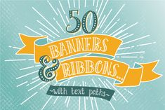 Check out Hand Drawn Banners & Ribbons Bundle by The Pen & Brush on Creative Market