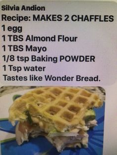 Wonder Bread Chaffle - Keto Recipes - Ideas of Keto Recipes - Wonder Bread Chaffle Low Carb Recipes, Diet Recipes, Cooking Recipes, Healthy Recipes, Diet Meals, Steak Recipes, Waffle Maker Recipes, Comida Keto, Keto Waffle