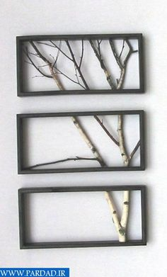 Ideas, birch branches and a frame