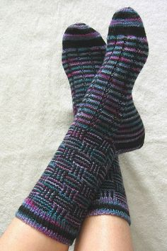 "Ravelry: Caesar's Check pattern by Charlene Schurch from the book ""Sensational Knitted Socks""."