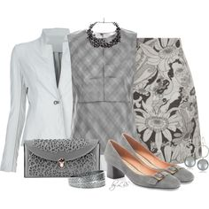 """""""Spring Grey"""" by fantasy-closet on Polyvore"""