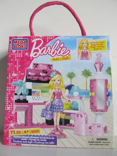 "MEGA BLOCKS - 80211. BARBIE Build 'n Style ""FASHION STAND."". Ages 4 and up."