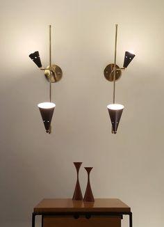 Hall Lighting, Wall Lights, Ceiling Lights, Mid Century Lighting, Candelabra Bulbs, White Lead, Lighting Solutions, Plates On Wall, Contemporary