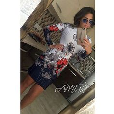 2017 Clothing Fashion Woman Long Sleeve Exotic Spring Round Floral Collar Dress Fresh Printed Cultivate Ones Morality Dress