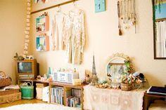 pale, cream, pastel bedroom